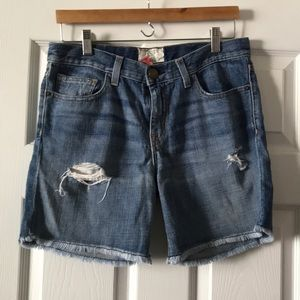 Current Elliott size 25 boyfriend jean shorts